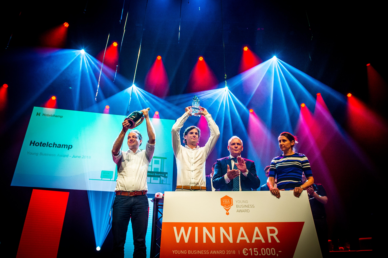 Hotelchamp winnaar startup competitie Young Business Award 2018